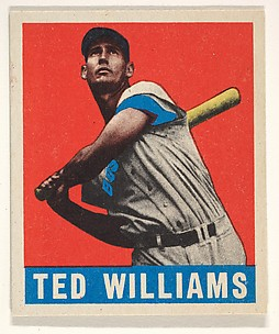 Ted Williams, Boston Red Sox, from the All-Star Baseball series (R401-1), issued by Leaf Gum Company