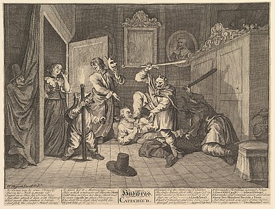 Hudibras Catechized (Twelve Large Illustrations for Samuel Butler's Hudibras, Plate 9)