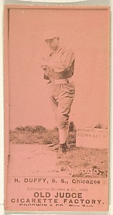 Hugh Duffy, Shortstop, Chicago, from the Old Judge series (N172) for Old Judge Cigarettes
