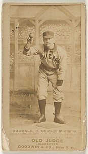 Dan Dugdale, Catcher, Chicago, from the Old Judge series (N172) for Old Judge Cigarettes