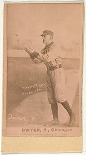 Dwyer, Pitcher, Chicago, from the Old Judge series (N172) for Old Judge Cigarettes