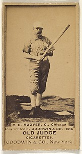 C.E. Hoover, Catcher, Chicago, from the Old Judge series (N172) for Old Judge Cigarettes