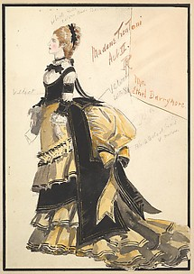 Costume Design for 'Madame Trentoni', Act II