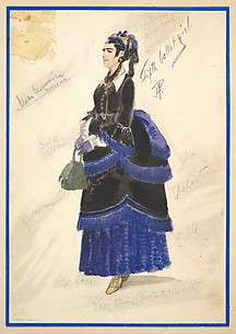 Costume Design for 'Fifth Ballet Girl' (Long Black Gown)
