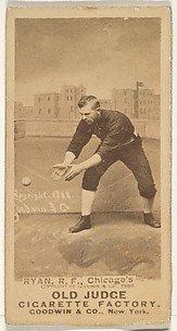Ryan, Right Field, Chicago, from the Old Judge series (N172) for Old Judge Cigarettes