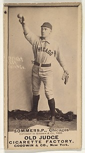 Sommers, Catcher, Chicago, from the Old Judge series (N172) for Old Judge Cigarettes