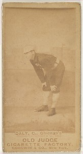 Daly, Catcher, Chicago, from the Old Judge series (N172) for Old Judge Cigarettes