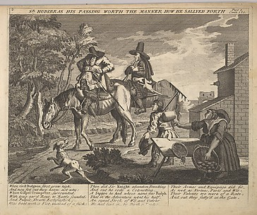 Sir Hudibras His Passing Worth the Manner How He Sallyed Forth (Plate 2: Illustrations to Samuel Butler's Hudibras)