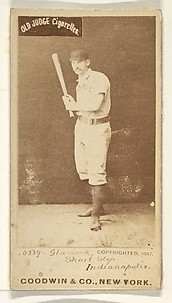 Glasscock, Shortstop, Indianapolis, from the Old Judge series (N172) for Old Judge Cigarettes