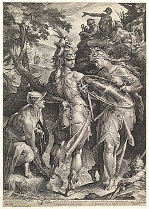 Minerva and Mercury Arming Perseus