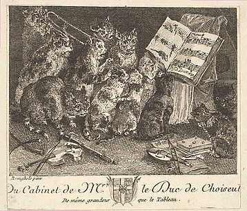 Concert of Cats, after the painting in the collection of the Duc de Choiseul