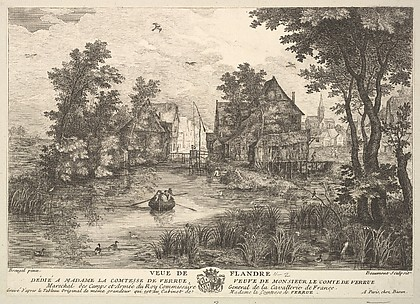 View of Flanders (Veue de Flandre) after the painting in the collection of Madame la Comtesse de Verrue