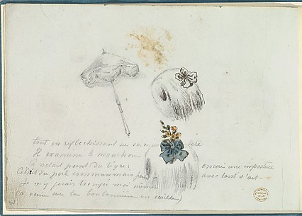 Sketches for Two Muffs and a Parasol