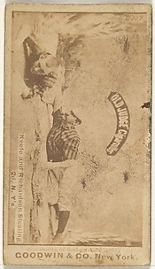 Keefe and Richardson Stealing 2nd Base, New York, from the Old Judge series (N172) for Old Judge Cigarettes