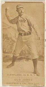 Elmer Ellsworth Cleveland, 3rd Base, New York, from the Old Judge series (N172) for Old Judge Cigarettes