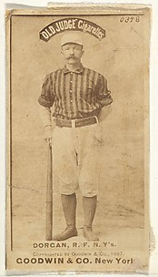 Michael Cornelius Dorgan, Right Field, New York, from the Old Judge series (N172) for Old Judge Cigarettes