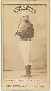 James Henry O'Rourke, 3rd Base, New York, from the Old Judge series (N172) for Old Judge Cigarettes