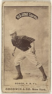 John F. Roach, Pitcher, New York, from the Old Judge series (N172) for Old Judge Cigarettes