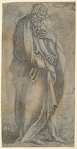 Heavily draped male Figure