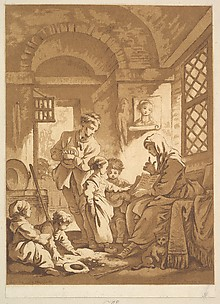 Two Women with Children