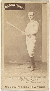 Charles G. Buffington, Center Field, Philadelphia, from the Old Judge series (N172) for Old Judge Cigarettes