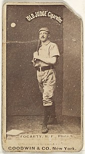 James G. Fogarty, Right Field, Philadelphia, from the Old Judge series (N172) for Old Judge Cigarettes
