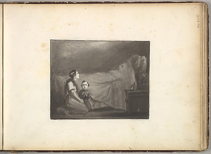 A Deathbed Scene (in Sketch Book With Drawings on Twenty-six Leaves)