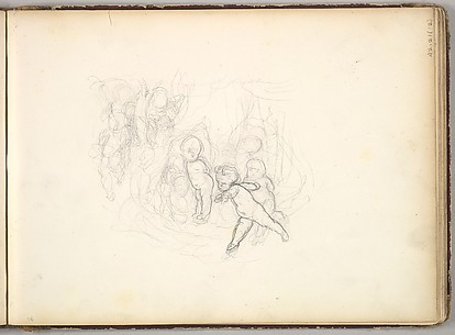 A Group of Children (in Sketch Book With Drawings on Twenty-six Leaves)