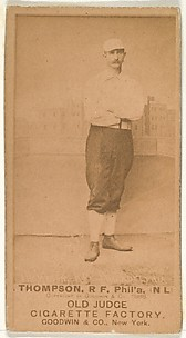 Thompson, Right Field, Philadelphia, from the Old Judge series (N172) for Old Judge Cigarettes
