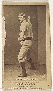 George A. Wood, Left Field, Philadelphia, from the Old Judge series (N172) for Old Judge Cigarettes