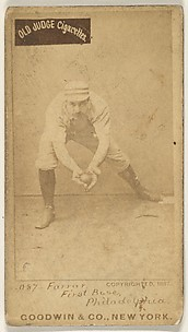 Sidney Douglas Farrar, 1st Base, Philadelphia, from the Old Judge series (N172) for Old Judge Cigarettes