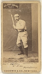 Sam Barkley, 2nd Base, Pittsburgh, from the Old Judge series (N172) for Old Judge Cigarettes