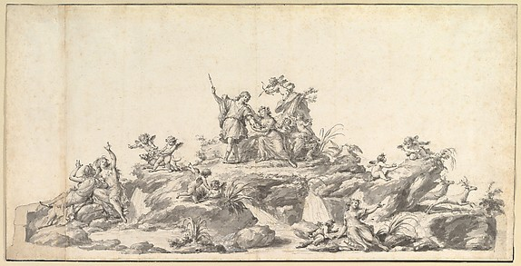 Design for the Fontana di Venere e Adone, Reggia di Caserta, Naples