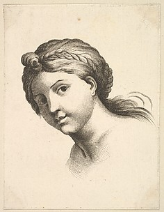 Head of a Woman, from Livre de Ttes Graves d&#39;apres F. Boucher et Autres (Book of Heads Engraved after F. Boucher and Others)
