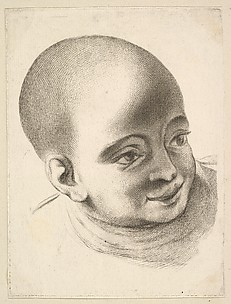 Head of a Child, from Livre de Têtes Gravées d'apres F. Boucher et Autres (Book of Heads Engraved after F. Boucher and Others)