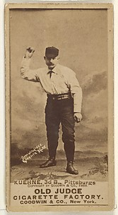 Bill Kuehne, 3rd Base, Pittsburgh, from the Old Judge series (N172) for Old Judge Cigarettes