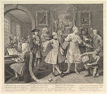 A Rake&#39;s Progress, Plate 2