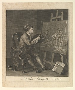 Hogarth Painting the Comic Muse of William Hogarth