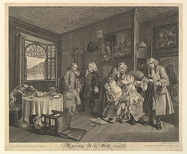 Marriage a La Mode, Plate VI