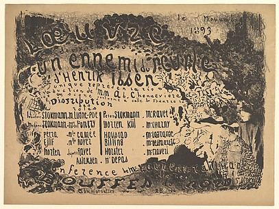 An Enemy of the People, Program for Théâtre de l'Oeuvre, November 1893