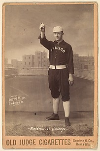 Marcus Elmore Baldwin, Pitcher, Chicago, from the series Old Judge Cigarettes