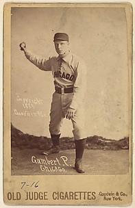 Ad Gumbert, Pitcher, Chicago, from the series Old Judge Cigarettes