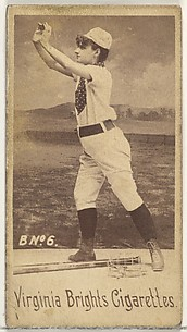 Card 6, from the Girl Baseball Players series (N48, Type 1) for Virginia Brights Cigarettes