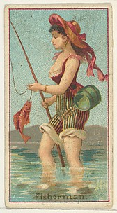 Fisherman, from the Occupations of Women series (N502) for Frishmuth's Tobacco Company
