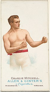 Charlie Mitchell, Pugilist, from World's Champions, Series 1 (N28) for Allen & Ginter Cigarettes