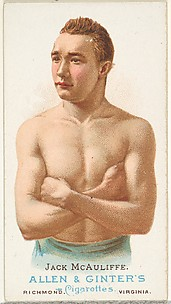 Jack McAuliffe, Pugilist, from World's Champions, Series 1 (N28) for Allen & Ginter Cigarettes