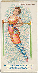 Double Arm Swing, from the Gymnastic Exercises series (N77) for Duke brand cigarettes