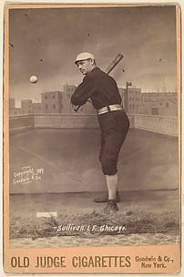 Sullivan, Left Field, Chicago, from the series Old Judge Cigarettes