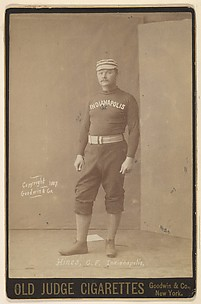 Hines, Center Field, Indianapolis, from the series Old Judge Cigarettes