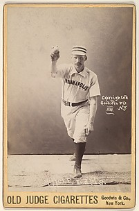 Moffet, Pitcher, Indianapolis, from the series Old Judge Cigarettes